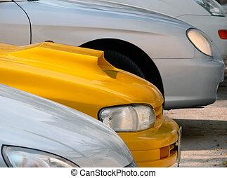 Cars parking lot.