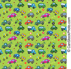 cars., pattern., seamless