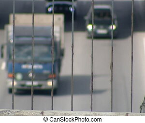 cars running on highway