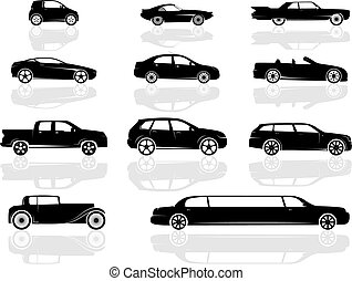 Cars Set - A set of various cars, from compact to stretch...