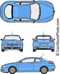 Silhouette cars on a white background. Vector illustration