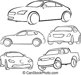 cars silhouettes - fast and dangerous driving, fast and ...