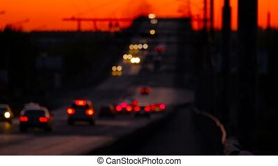 Cars Traffic Defocused Evenfall