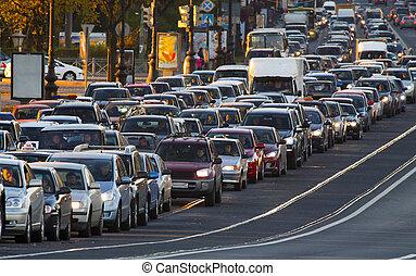 cars, traffic jams