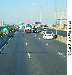 Cars traffic on highway