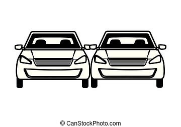 cars transport sedan vehicles cartoon