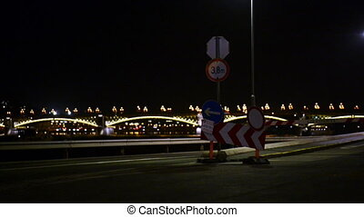Cars traveling at the night