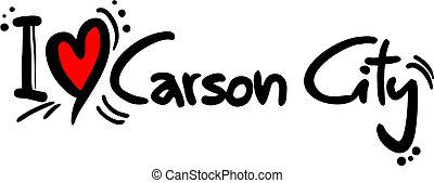 Creative design of carson city love