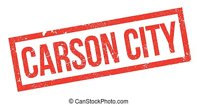 Carson City rubber stamp. Grunge design with dust scratches. Effects can be easily removed for a clean, crisp look. Color is easily changed.