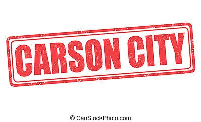 Carson City grunge rubber stamp on white background, vector illustration