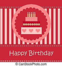 cartão aniversário, com, espaço cópia