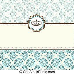 cartão, barroco