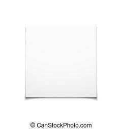 cartão, branca, papel, isolado, fundo