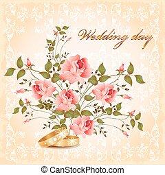 cartão, casório