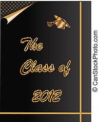 cartão, classe, graduação, 2012