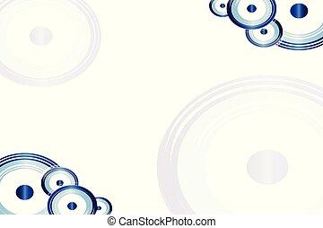 cartão, com, artisticos, azul, olho mal, vetorial