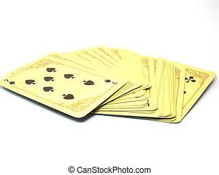 cartão, convés