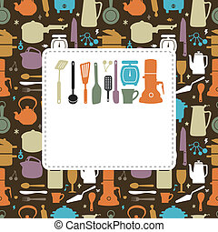 cartão, cozinha