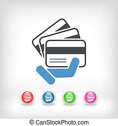 cartão crédito, ícone