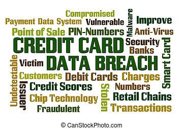 cartão crédito, dados, rompimento