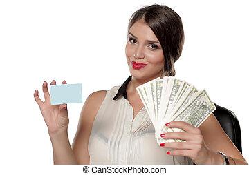 cartão crédito, dinheiro