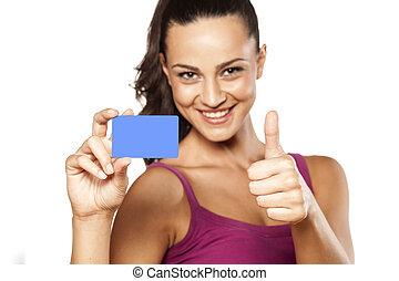 cartão crédito, em branco