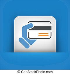 cartão crédito, segurando