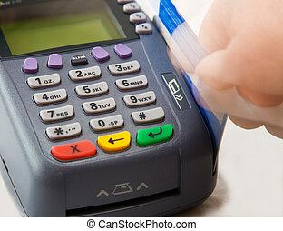 cartão crédito, terminal