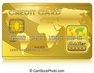 cartão crédito, (vector)