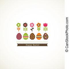 cartão cumprimento, floweres