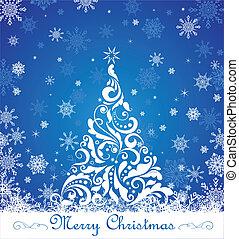 cartão cumprimento, natal