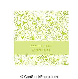 cartão cumprimento, ou, convite, para, partidos, casamentos,...