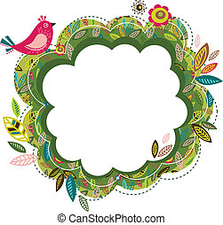 cartão cumprimento, pássaro