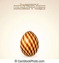 cartão cumprimento, texto, modelo, com, ovo páscoa