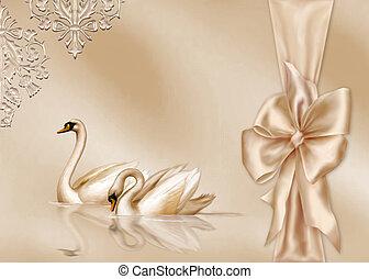 cartão, elegante