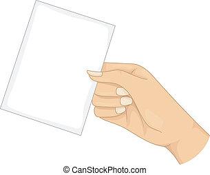 cartão, em branco