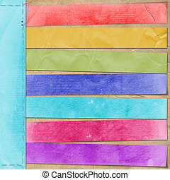 cartão, estilo, multicolor, anúncio, retro