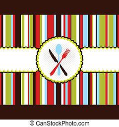 cartão, faixa, menu, coloridos