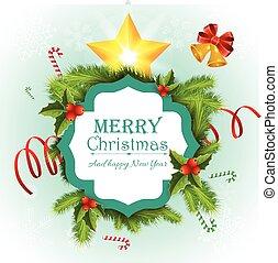 cartão, feliz natal