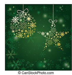 cartão, feriado, natal, elements.