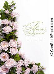 cartão, flor, arte, saudação, fundo