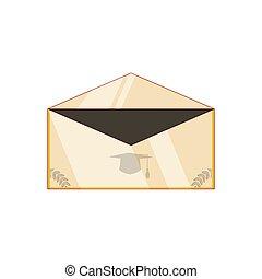 cartão, graduação, convite