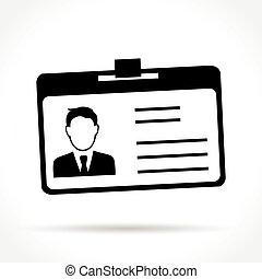 cartão id, ícone