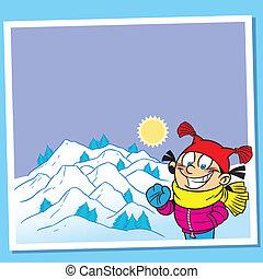 cartão, inverno