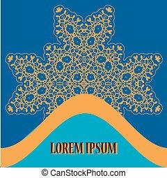 cartão, islamic, cartão, ornate, saudação, stylized, árabe, oriental, asiático, arabescos, convite, impressão, indianas, mandala, ou, otomano, folheto