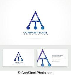 cartão, logotipo, abstratos, letra, negócio