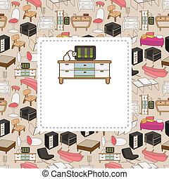 cartão, mobília