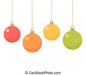 cartão natal, baubles
