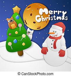 cartão natal, celebração