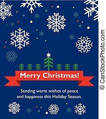 cartão natal, com, fir-tree